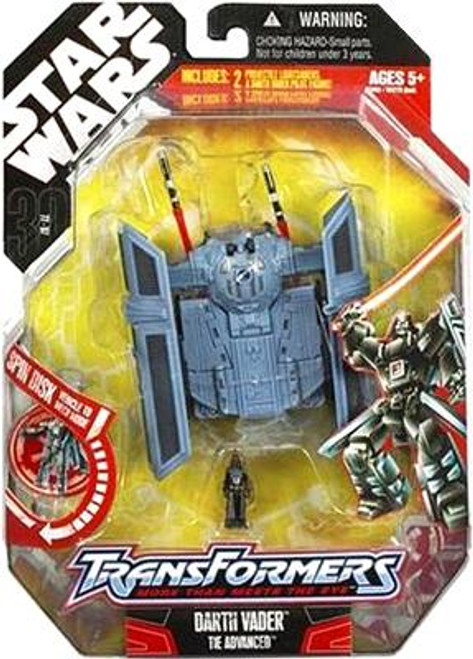 Star Wars A New Hope Transformers 2007 Darth Vader to TIE Advanced Action Figure