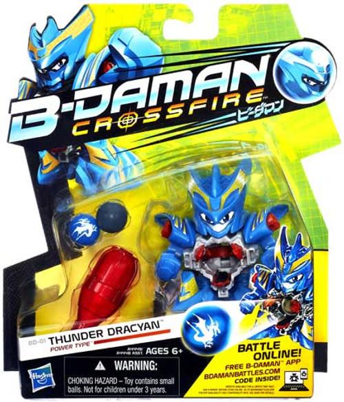 B-Daman Crossfire Thunder Dracyan Figure BD-01 [Power Type]