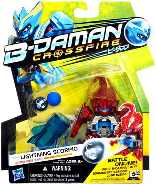 B-Daman Crossfire Lightning Scorpio Figure BD-14 [Rapid-Fire Type]