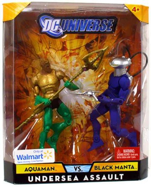 DC Universe Aquaman Vs Black Manta Exclusive Action Figures [Damaged Package, Mint Contents]