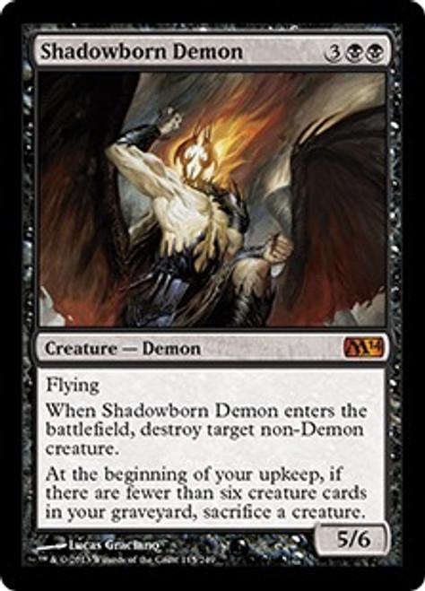 MtG Magic 2014 Mythic Rare Shadowborn Demon #115