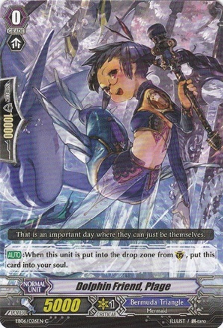 Cardfight Vanguard Dazzling Divas Common Dolphin Friend, Plage EB06/026