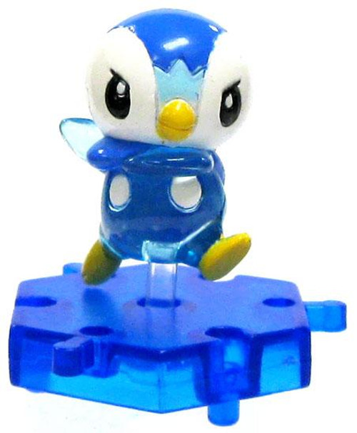 Pokemon Japanese Connecting Figures Crystal Piplup 1-Inch PVC FIgure