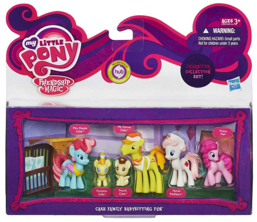 My Little Pony Friendship is Magic Character Collection Sets Cake Family Babysitting Fun Figure Set
