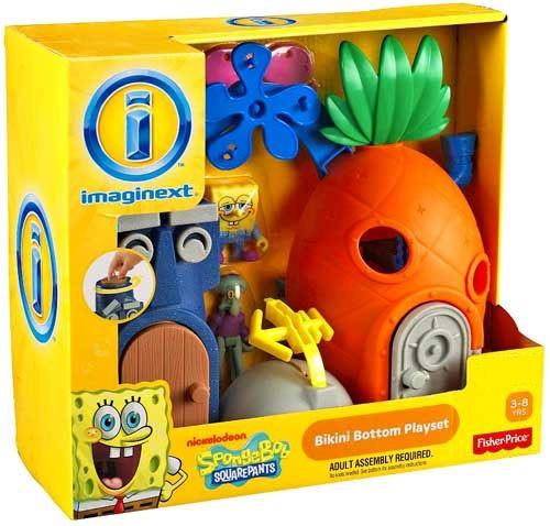 Fisher Price Spongebob Squarepants Imaginext Bikini Bottom Exclusive 2-Inch Playset