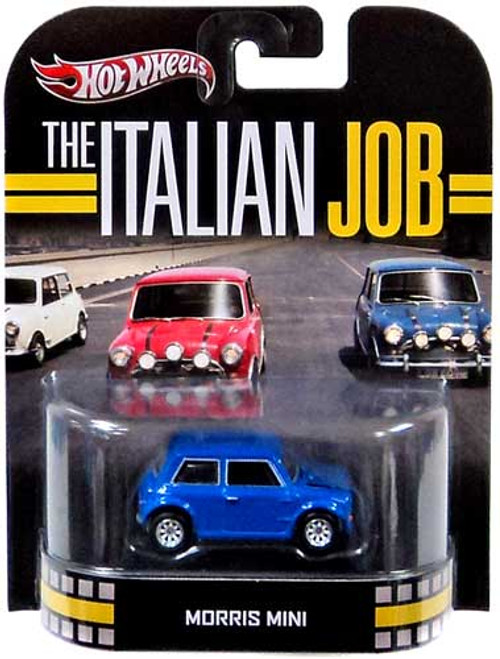 The Italian Job Hot Wheels Retro Morris Mini Diecast Vehicle [Blue]