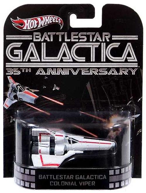 Battlestar Galactica Hot Wheels Retro Colonial Viper 1/6 Diecast Vehicle