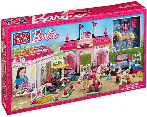 Mega Bloks Barbie Build 'n Play Horse Stable Set #80246