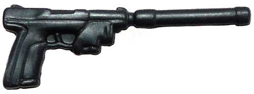 GI Joe Loose Weapons Pistol with Silencer Action Figure Accessory [Metallic Blue Loose]