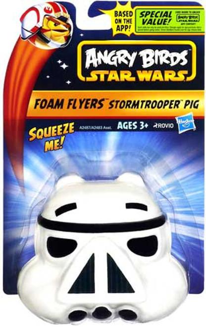 Star Wars Angry Birds Foam Flyers Stormtrooper Pig Figure