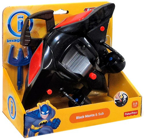 Fisher Price DC Super Friends Justice League Imaginext Black Manta & Sub 3-Inch Figure Set