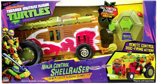 Teenage Mutant Ninja Turtles Nickelodeon Ninja Control Shellraiser Action Figure Vehicle