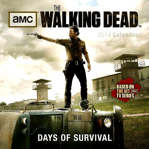 The Walking Dead AMC TV Days of Survival 2014 Wall Calendar