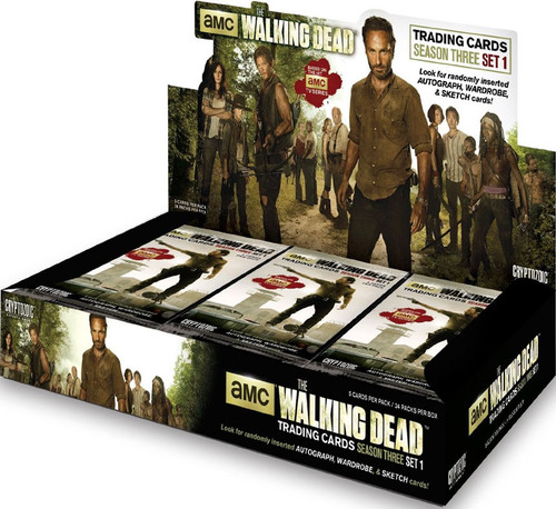 The Walking Dead AMC TV Series Season 3 Part 1 Trading Card Box