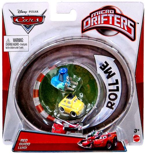 Disney Cars Micro Drifters Red, Guido & Luigi Mini Cars