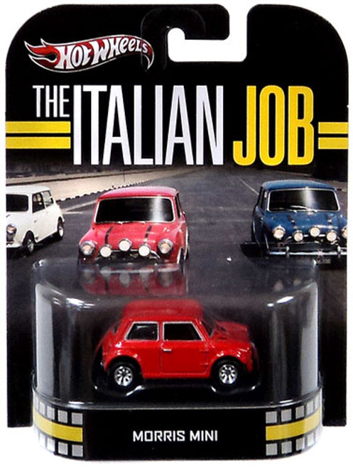 The Italian Job Hot Wheels Retro Morris Mini Diecast Vehicle [Red]