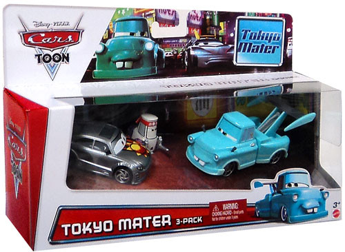 Disney Cars Cars Toon Multi-Packs Tokyo Race Party Exclusive Diecast Car 3-Pack Set