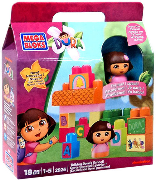 Mega Bloks Dora the Explorer Talking Dora's School Set #2926