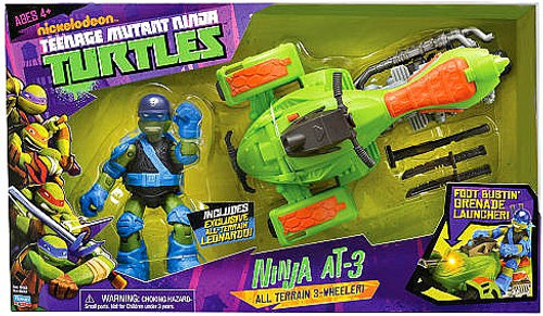 Teenage Mutant Ninja Turtles Nickelodeon Ninja AT-3 Action Figure Vehicle