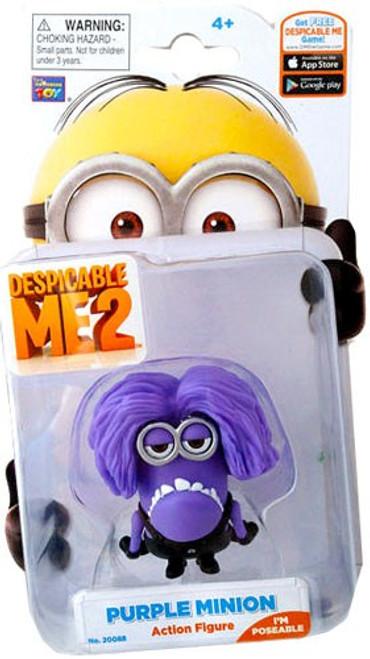 Despicable Me 2 Purple Minion Action Figure [Jerry]