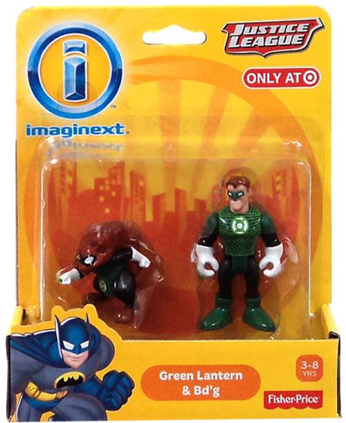 Fisher Price DC Super Friends Justice League Imaginext Green Lantern & Bd'g Exclusive 3-Inch Mini Figures