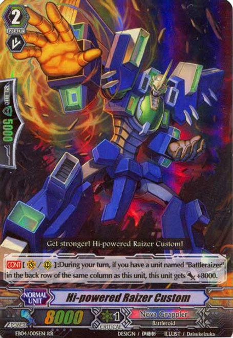 Cardfight Vanguard Infinite Phantom Legion RR Rare Hi-powered Raizer Custom EB04/005