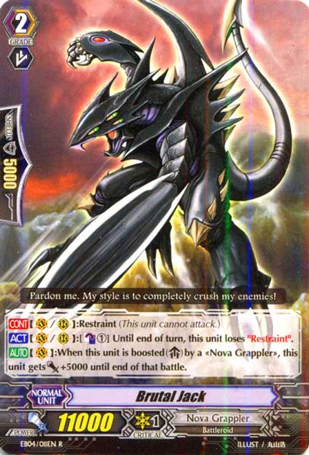 Cardfight Vanguard Infinite Phantom Legion Rare Brutal Jack EB04/011