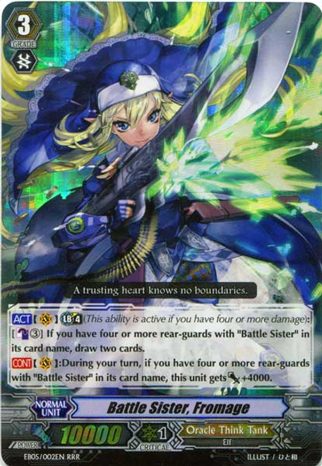 Cardfight Vanguard Celestial Valkyries RRR Rare Battle Sister, Fromage EB05/002