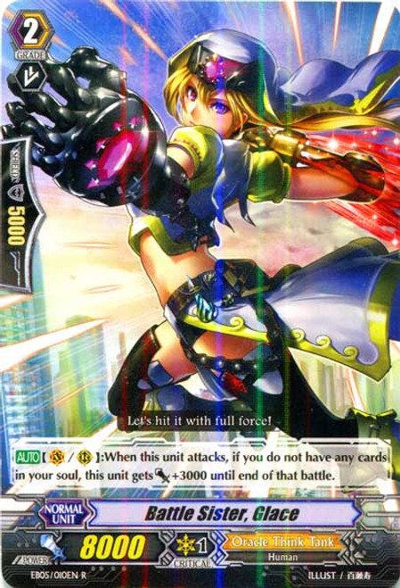 Cardfight Vanguard Celestial Valkyries Rare Battle Sister, Glace EB05/010