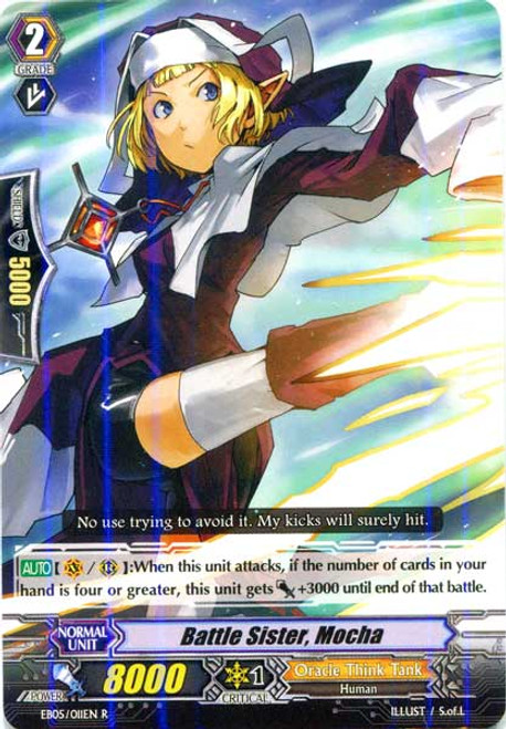 Cardfight Vanguard Celestial Valkyries Rare Battle Sister, Mocha EB05/011
