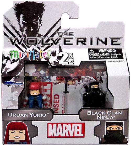 The Wolverine Minimates Series 52 Urban Yukio & Black Clan Ninja Minifigure 2-Pack