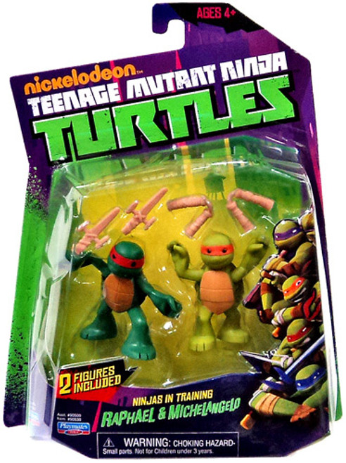 Teenage Mutant Ninja Turtles Nickelodeon Ninjas in Training Raphael & Michelangelo Action Figure 2-Pack