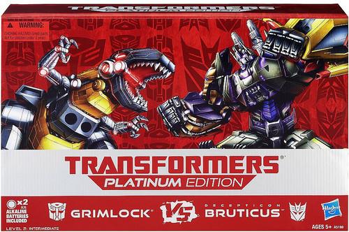 Transformers Platinum Edition Grimlock vs Bruticus Exclusive Action Figure Set #4 of 30