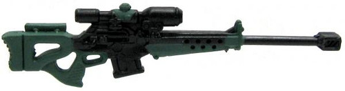 GI Joe Loose Weapons 50 Cal. Sniper Rifle Action Figure Accessory [Black & Green Loose]