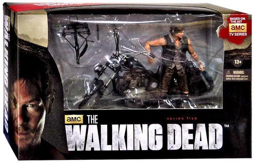 McFarlane Toys Walking Dead AMC TV Deluxe Sets Daryl Dixon & Chopper Action Figure Set