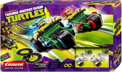 Teenage Mutant Ninja Turtles Nickelodeon Slot Racing System