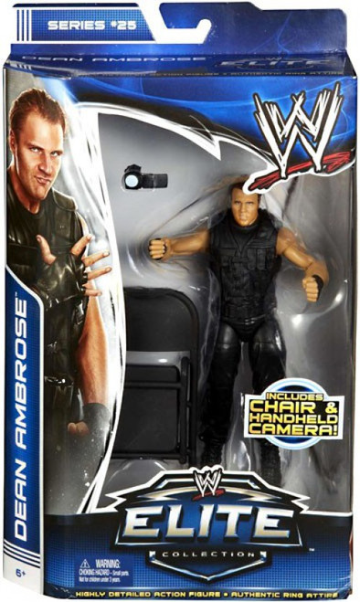 WWE Wrestling Elite Series 25 Dean Ambrose {The Shield} Action Figure [Chair & Handheld Camera]
