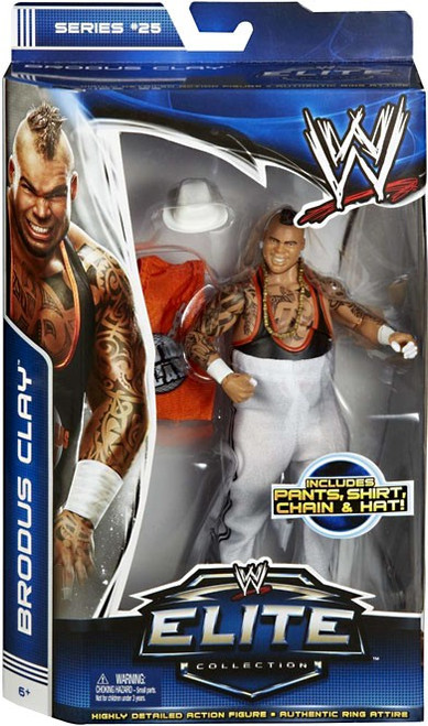 WWE Wrestling Elite Series 25 Brodus Clay Action Figure [Pants, Shirt, Chain & Hat]