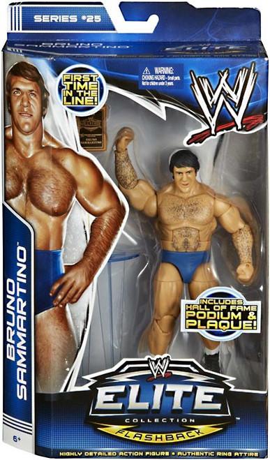 WWE Wrestling Elite Series 25 Bruno Sammartino Action Figure [Hall of Fame Podium & Plaque]