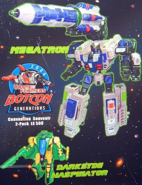 Transformers Timelines Botcon Exclusives Megatron & Darksyde Waspinator Exclusive Action Figure 2-Pack