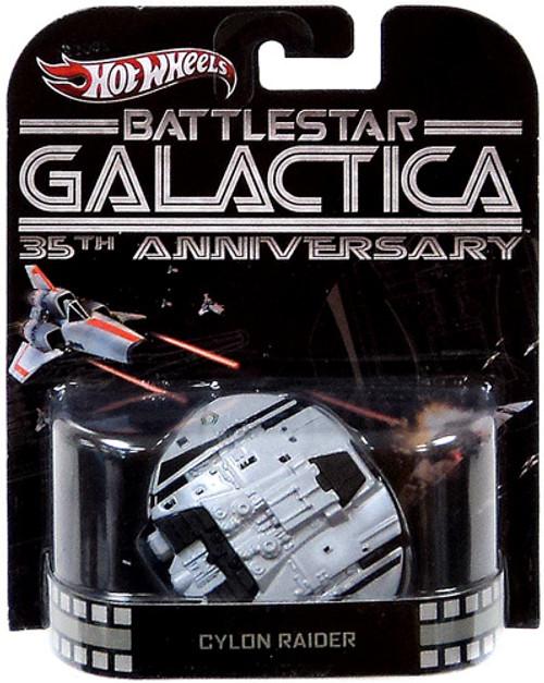 Battlestar Galactica Hot Wheels Retro Cylon Raider 1/6 Diecast Vehicle