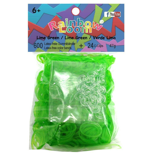 Rainbow Loom Jelly Lime Green Rubber Bands Refill Pack RL10 [600 ct]