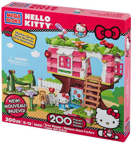 Mega Bloks Hello Kitty Vacation Series Tree House Set #10931