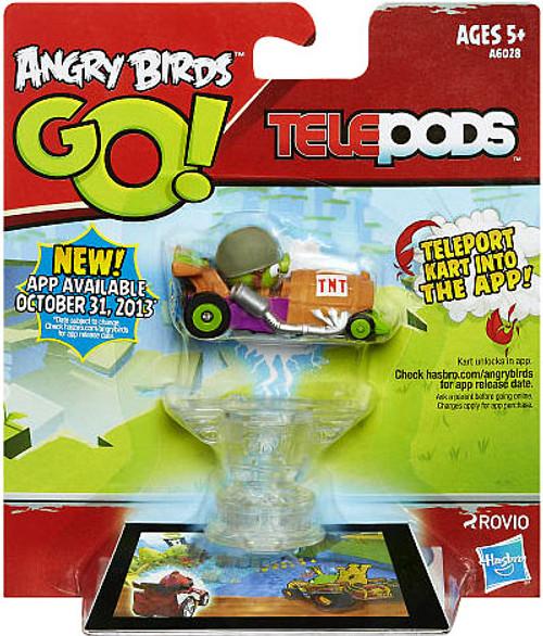 Angry Birds GO! Telepods Kart Series 1 Green Pig Figure Pack [Helmet]