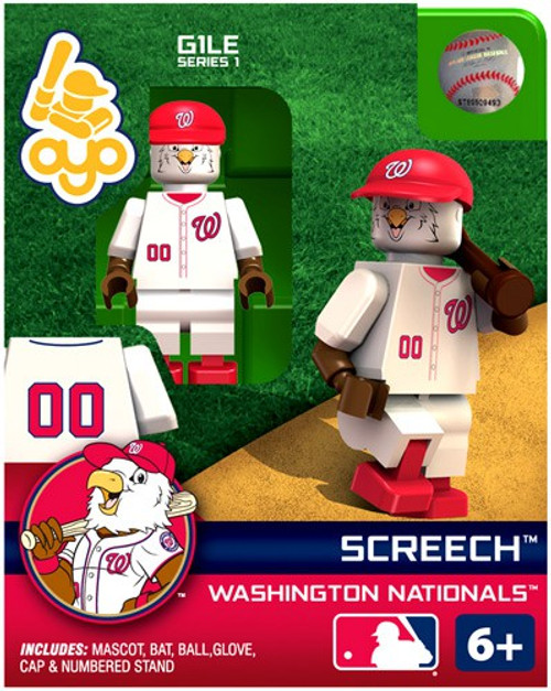 Washington Nationals MLB Generation 1 Series 1 Screech Minifigure