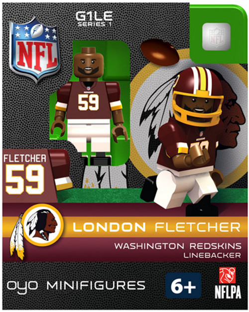 Washington Redskins NFL Generation 1 Series 1 London Fletcher Minifigure