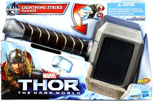 The Dark World Thor Lightning Strike Hammer Roleplay Toy