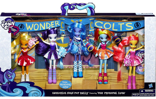 My Little Pony Equestria Girls Canterlot High Pep Rally Exclusive 9-Inch Doll 5-Pack
