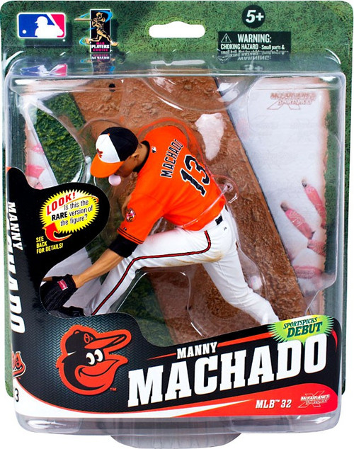 McFarlane Toys MLB Baltimore Orioles Sports Picks Series 32 Manny Machado Action Figure