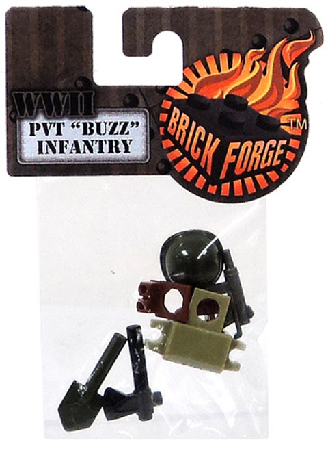 "Brickforge WWII Minifigure Parts PVT ""Buzz"" Infantry 2.5-Inch Pack"